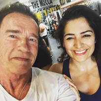 "My ""gym buddy"", the ""Governator"" Arnold Schwarzenegger"